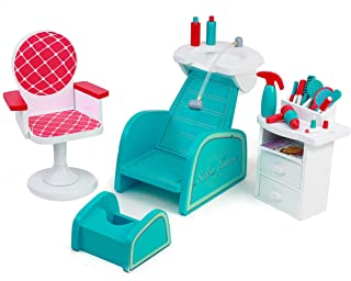 Playtime by Eimmie Hair Salon and Nail Spa Set - Doll Accessories - Hair Salon and Hairstyling Set for 18 Inch Doll