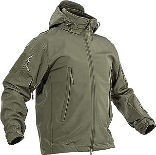 Men's Winter Outdoor Coat Hooded Softshell Fleece Army Jacket Casual Waterproof Windproof Tactical Jacket