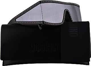ba7dd4c3f1dc Moschino MOS004/S Sunglasses Black Silver w/Silver Mirror Lens 99mm BSCDC  MOS 004S