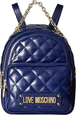 Shiny Quilted Backpack