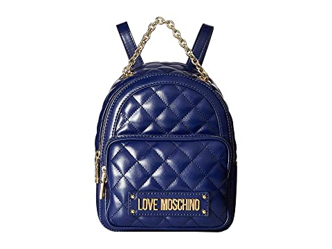 LOVE Moschino Shiny Quilted Backpack