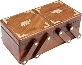 ITOS365 Handmade Wooden Jewelry Box/Case / Storage for Women Jewel Organizer Gift Items