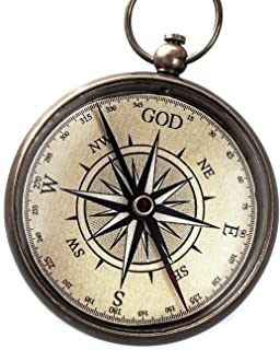 God is My Guide Compass with Display Stand-Unique | Uplifting | Heavenly Gift of Faith...