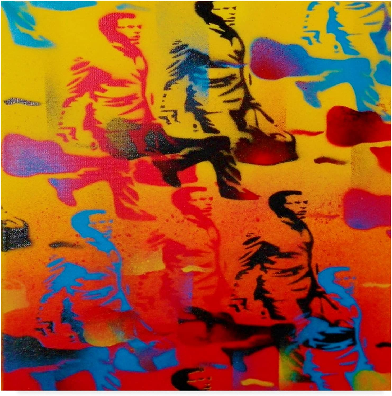 Rush Hour orange by Abstract Graffiti, 14x14-Inch