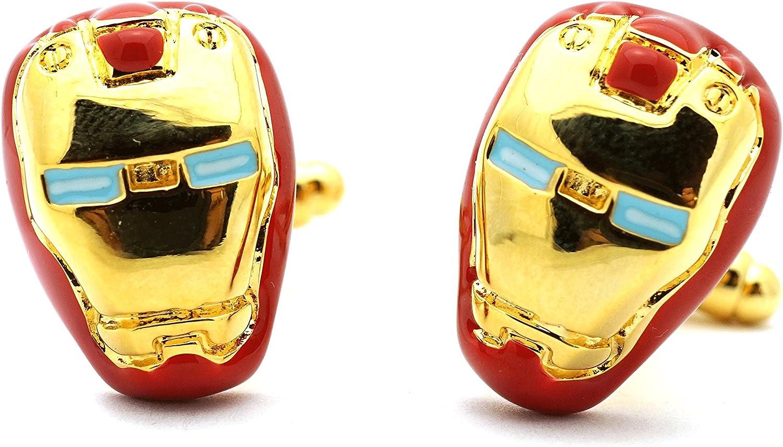 Teri's Boutique Comics Avengers Ironman Red Gold Tone Men Cufflinks w/Gift Box