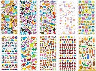 10 Sheets Kids Craft Sticker 3D DIY Cartoon Scrapbook Sticker Planner Sticker