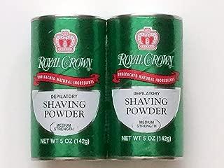 ROYAL CROWN Shaving Powder with Lemon-Lime Fragrance 5oz (Pack of 2)