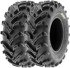 SunF 22x11-9 22x11x9 ATV UTV A/T Mud Trail Replacement 6 PR Tubeless Tires A024, [Set of 2]