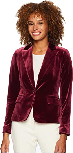 One-Button Velvet Jacket