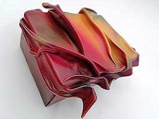 caja cuero y madera multicolor