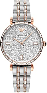 Emporio Armani Gianni T-Bar Quartz Silver Dial Ladies Watch AR11293