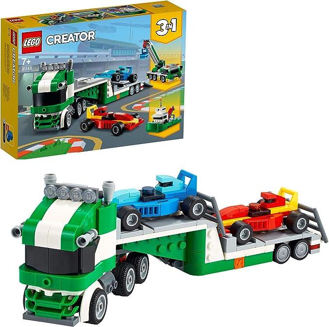 587 opinioni per LEGO Creator 3 in 1 Trasportatore di Auto da Corsa, Kit di Costruzione per