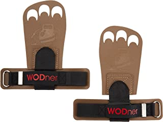 WODner One Size Fits All Handsavers | Premium Leather Grips Crossfit Gloves for WODs, Gymnastics, Olympic Weightlifting, Powerlifting, Calisthenics & Gym, Great Protection Against rips and blisters