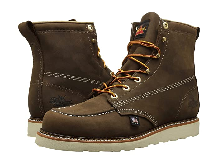 Thorogood  6 Moc Toe (Brown Crazyhorse) Mens Work Boots