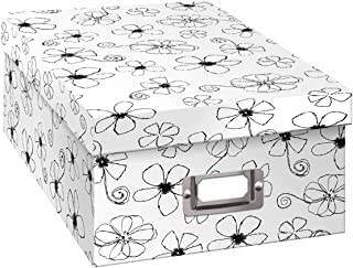 Pioneer Photo Albums B-1BW Photo Storage Box, Floral Design