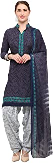 Rajnandini Charcoal Crepe Salwar Suit For Women (Ready To Wear)(One Size)