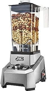 JAWZ High Performance - Variable 10-Speed - Professional Grade Countertop Blender/Food Processor, 64 Oz, Silver