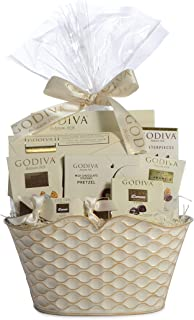 Godiva Chocolatier Gift Basket –Chocolate Assortment For 2019 Christmas Holiday Season - Improved Product Protective Packaging, Damage Free Guarantee