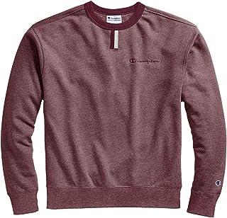 قميص رياضي رجالي من Champion Heritage Heather YC Crew Sweater، أحمر فاتح/كستنائي، صغير