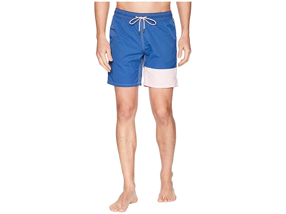 Mr. Swim Color Block Dale Swim Trunks (Denim) Men