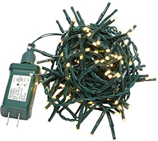 MULTI-SPARKING Christmas Cluster Lights, 16.6ft 200 LED Warm White Steady Fairy String Lights with Adapter for Wedding Christmas Trees, Bushes, Wreaths, Patios, Lawn, Hedges and Fences(Unconnected)