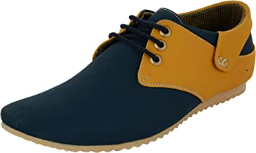 ESSENCE Men's Corpus Blue Derby Casual Shoes