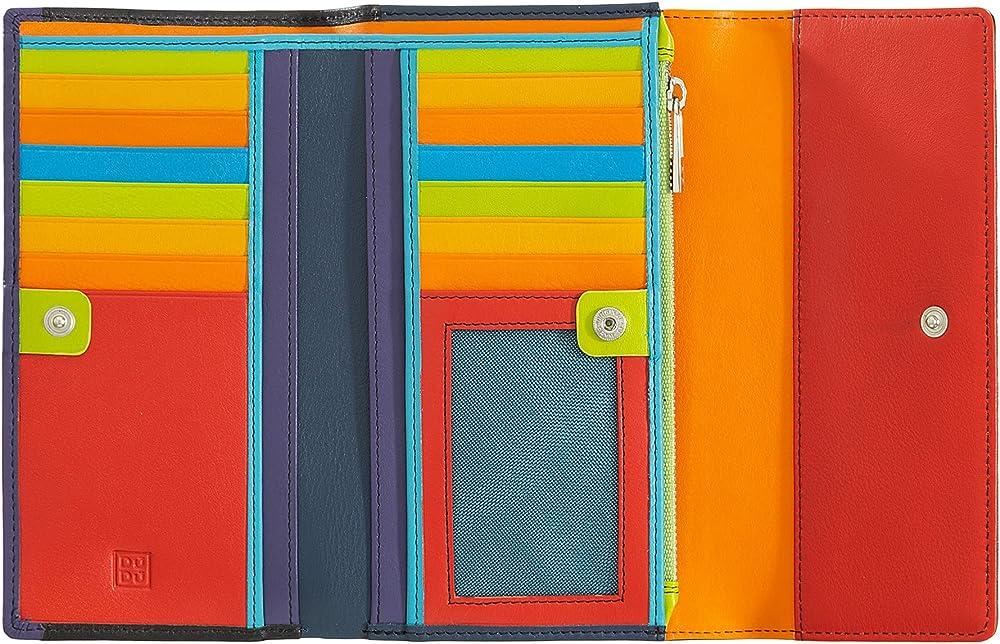 Dudu portafoglio da donna porta carte di credito con protezione rfid in vera pelle colorata 8031847140989
