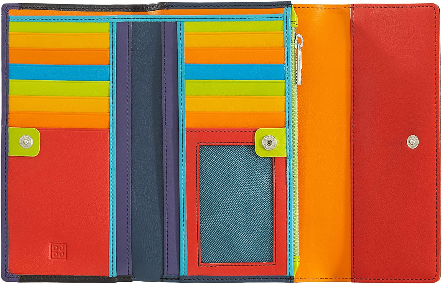 Womens wallet large Be Tucson Mall super welcome in genuine card colorful leather flap with