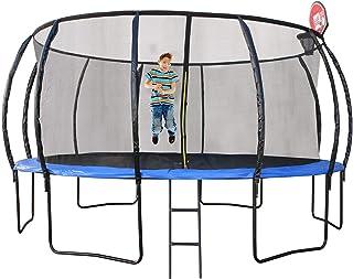 Trampoline 14ft (427cm) With Ladder, Shoe Bag And Basketball Hoop