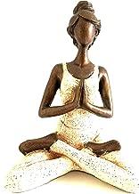 OMA Yoga Statue Meditation Sculpture Bali Art Abstract Bronze Finish Yoga Lady, 10