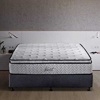 Jacia House 11.4 Inch Memory Foam Innerspring Independently Encased Coil Hybrid Mattress - Pillow Top Mattress - Bed in a Box -Queen