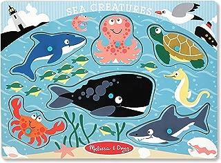 Melissa & Doug Sea Creatures Wooden Peg Puzzle (6 pcs)