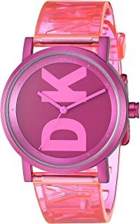 DKNY Soho Women's Three Hand Wrist Watch-Translucent Band