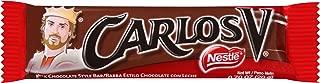 Carlos V Barra Estilo Chocolate con Leche | Milk Chocolate Style Bar, 0.7 oz - 10 Pack.