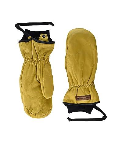 Obermeyer Leather Mitten Ski Gloves