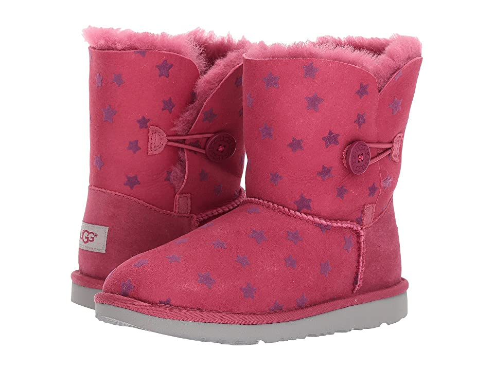 UGG Kids Bailey Button II Stars (Little Kid/Big Kid) (Brambleberry) Girls Shoes