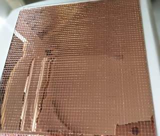 Self-Adhesive Real Glass Mirror Mosaic Tile Craft ,Colored Mini Square Mirrors Mosaic Tiles (Light Rose Gold)