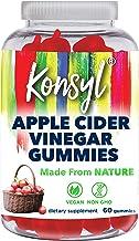 Konsyl Apple Cider Vinegar Gummies   Supports Immunity & Detox+ - Vegan, Non-GMO Dietary Supplement 60ct