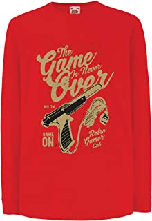 lepni.me Kids T-Shirt Retro Video Gamer Club, The Game is Never Over