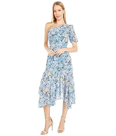 ASTR the Label Santorini Dress (Navy/Blue Floral Print) Women