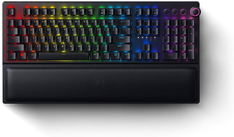 Razer BlackWidow V3 Pro Mechanical Wireless Gaming Keyboard: Yellow Mechanical Switches - Linear & Silent - Chroma RGB Lighting - Doubleshot ABS Keycaps - Transparent Switch Housing (Renewed)