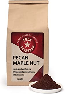 Lola Savannah Pecan Maple Nut Ground Coffee - Crafted Rich Pecan Nutty Flavor & Hint of Maple Syrup | Caffeinated | 2lb Bag