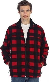 Gioberti Mens Zip Up Plaid Polar Fleece Jacket