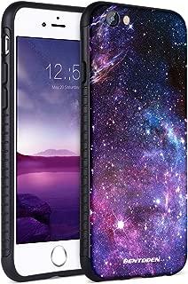 iPhone 6S Plus Case, iPhone 6 Plus Case, BENTOBEN Galaxy Nebula Stars Slim Fit Dual Layer Hybrid Shockproof Hard Back Durable Bumper Protective Case for iPhone 6S Plus/6 Plus (5.5 inch), Black