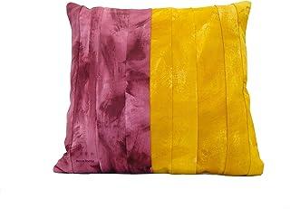Cojín color intenso de bandas pintadas, funda de cojín de 45 x 45 cm, diseño original de BeccaTextile.