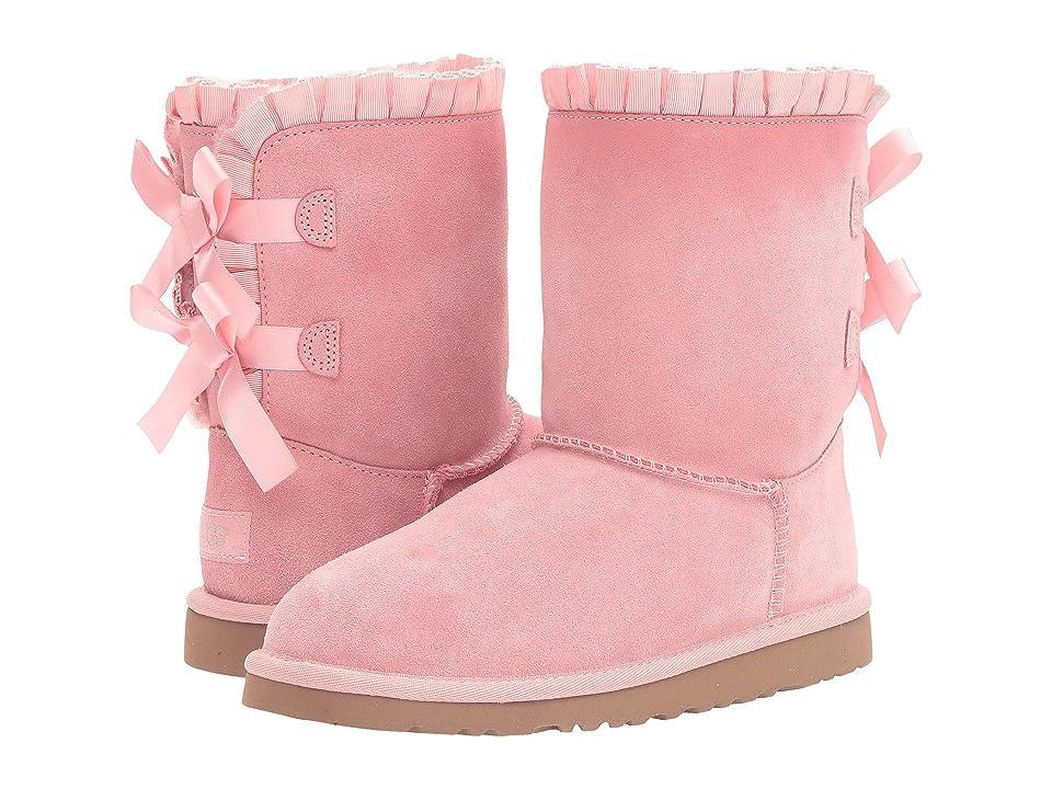 UGG Kids Bailey Bow Ruffles (Big Kid) (Baby Pink) Girls Shoes