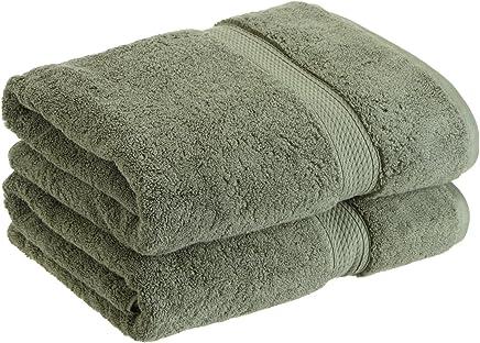 Superior 900克埃及棉2件浴巾套件 森林绿