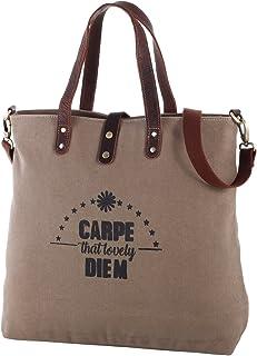 Rada Nature City-Shopper Damen aus Canvas/Leder, stylische Umhängetasche mit 2in1 Funktion, Strandtasche 22 Liter in versc...