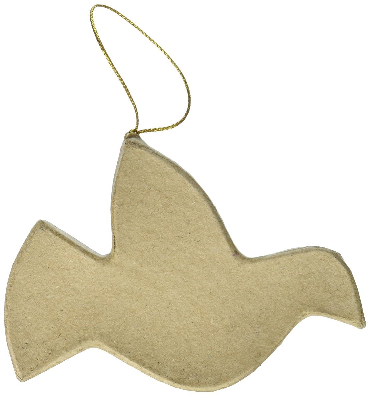 Craft Ped Paper CPLJV0049 Mache Ornament Flat Bird Kraft