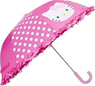 Western Chief Apparel Kid's Little Girl Character Umbrella, Hello Kitty Cutie Dot, One Size